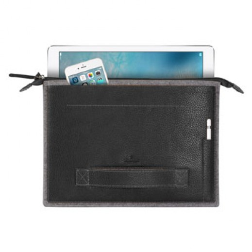 "Patchworks Leather Sleeve for iPad Pro 12.9"" - Black"