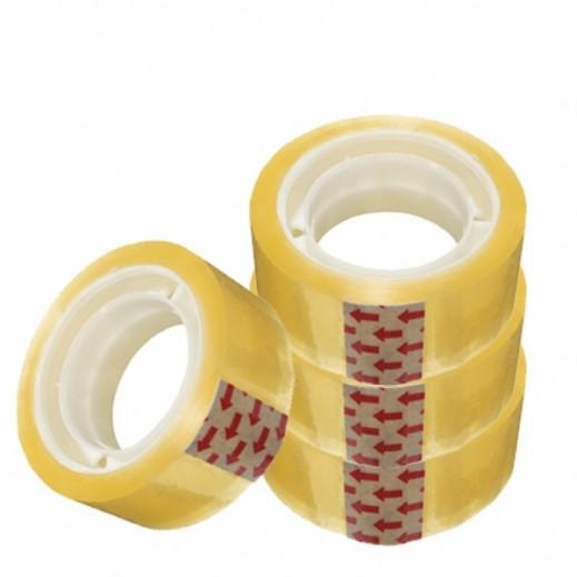 Maha Self Adhesive 18mm Yellow Tape 12 Rolls