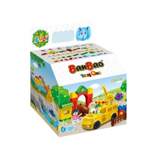 BanBao Jungle Family Toy Building Set 61 Pieces