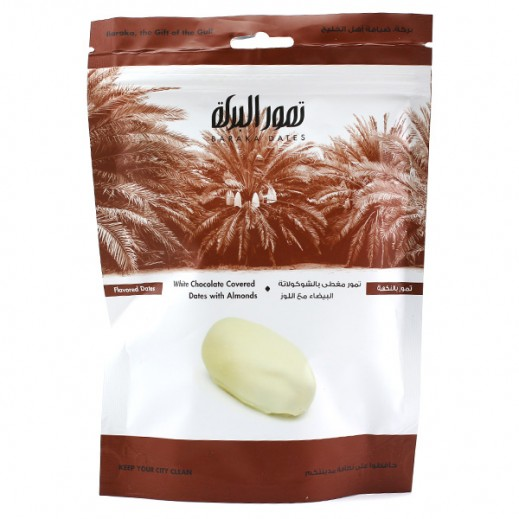 Baraka White Chocolate with Almonds Dates (Bag) 125 g