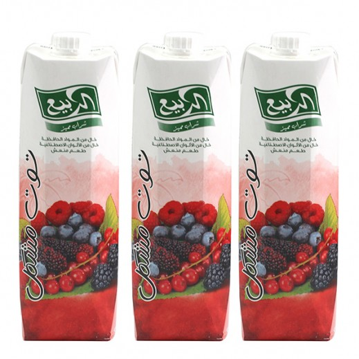 Al Rabie Berrry Mix Nectar Juice 1 L (3 Pieces)