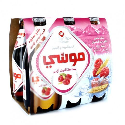 Moussy Raspberry Malt Beverage 330 ml (6 Pieces)