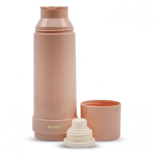 Shimizu Vacuum Flask 1 L - Pink Brown
