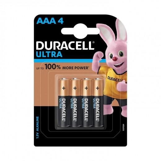 Duracell Ultra Alkaline AAA 1.5V Monet Batteries - 4Pcs