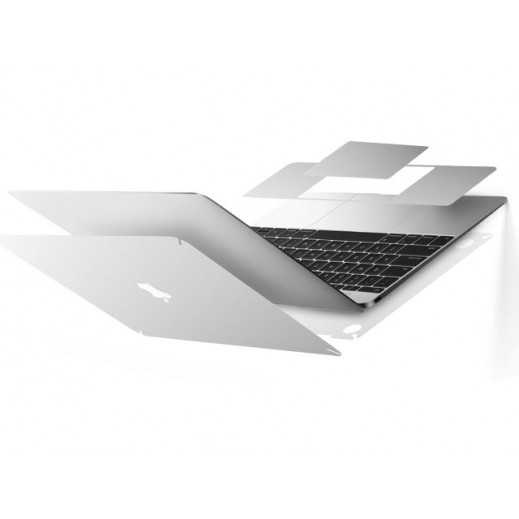 """Comma Full Protection Series for MacBook MacBook 12"""" – Silver"""