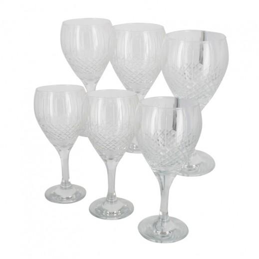 ASC Juice Stem Glass Plain 6 pieces Set