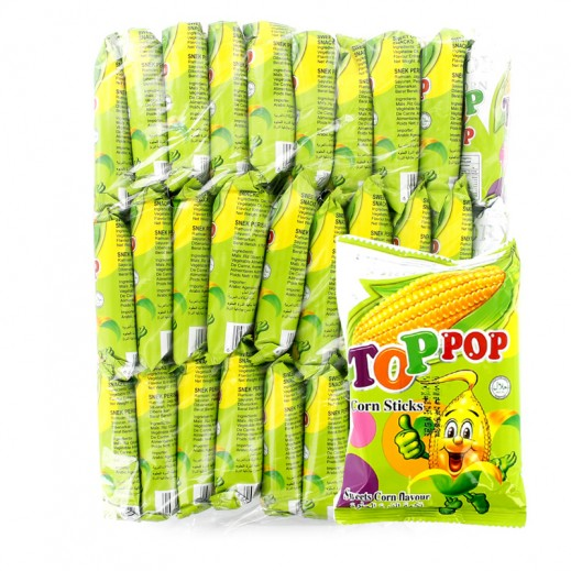 Top Pop Sweet Corn Sticks 18 g (30 Pieces)