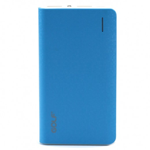 Golf Power Bank Dual USB 8,000mAh  Blue