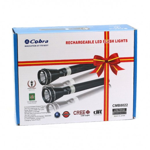 Cobra Rechargeable LED Flash Lights Set Of 2