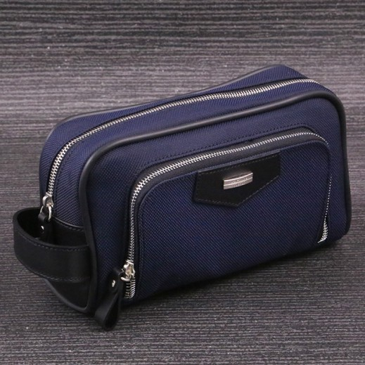 Valentino Orlandi 602 Plain Yacar Navy Blue Men's Hand Bag - delivered by My Fair Lady