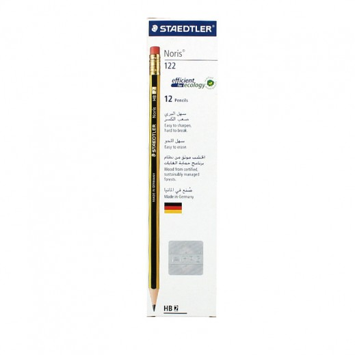 Staedtler Noris Pencil With Rubber 12 pieces