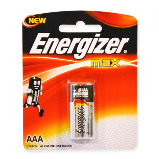 Energizer Max Alkaline AAA Battery 2 Pack