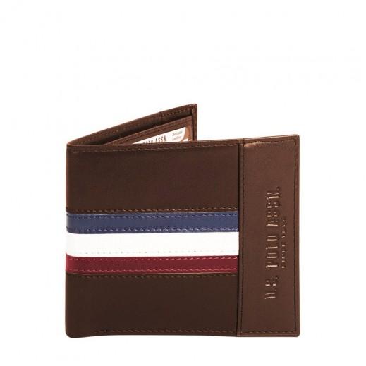 U.S. Polo Assn PLCUZ5787 Leather Wallet Mens Coffee Brown