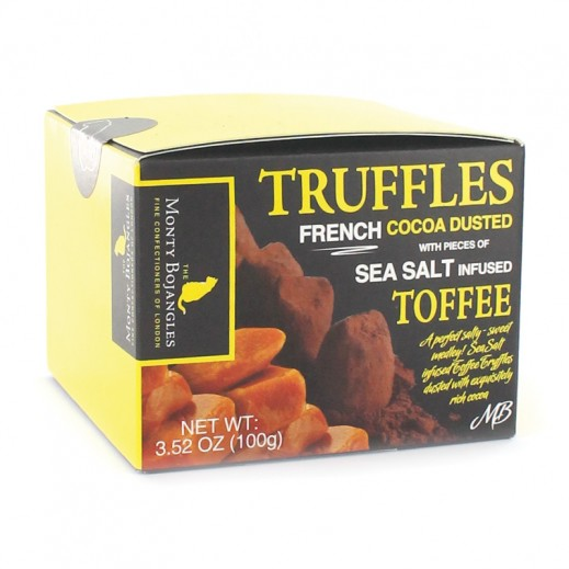 Monty Bojangles Sea Salt Infused Toffee Dusted Truffles 100g