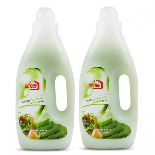 Active Fabric Softner Flower and Musk 2 x 2 L