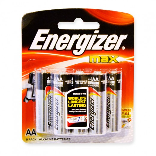 Energizer Max Alkaline AA Battery 8 Pack