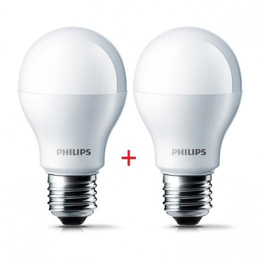 Philips LED Bulb White 13W E27 6500K - 1+1 Free