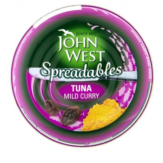 JohnWest Spreadables Tuna With Mild Curry 80g