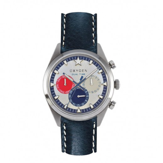 Oxygen Sport Dual L Island Watch For Unisex Navy/Red/Ivory EX-SDT-LON-40