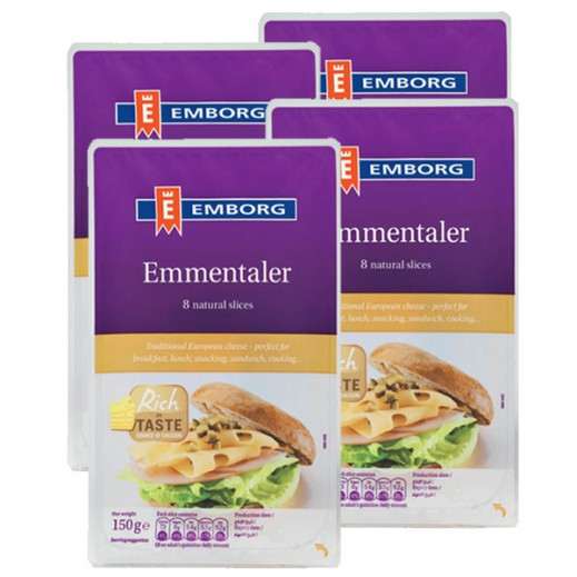 Value Pack - Emborg Emmental Cheese Slice 150 g (4 Pieces)