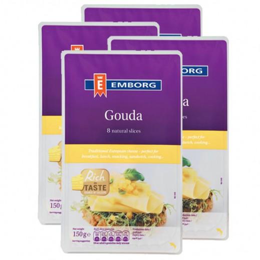 Emborg Gouda Cheese Slice 4 x 150 g
