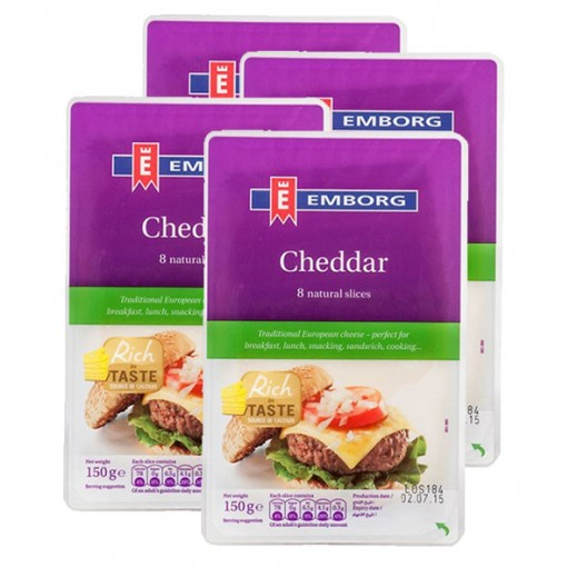 Value Pack - Emborg Cheddar Cheese Slice 150 g (4 Pieces)