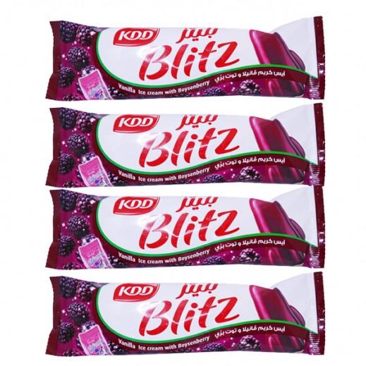 KDD Blitz Vanilla Ice Cream with Boysenberry 62.5 ml (4 Pieces)