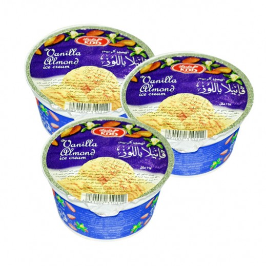 KDD Vanilla Almond Ice Cream 167 cc Cups (3 Pieces)