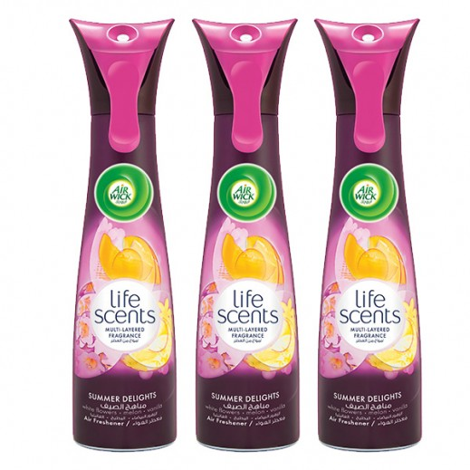 Value Pack - Air Wick Air Freshener Summer Delights 210 ml (3 Pieces)