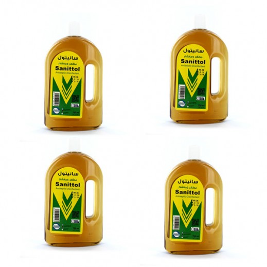Value Pack - Al-Sanea Sanittol Antiseptic Disinfectant 750 ml (4 Pieces)