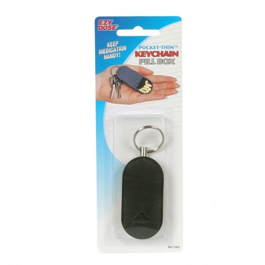 Ezy Dose Pocket Thin Keychain Pill Box Assorted Color