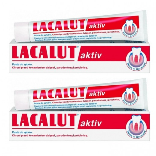 Lacalut Aktiv Medical Toothpaste 75 ml (2 Pieces)