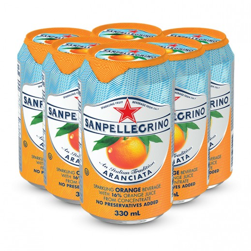 San Pellegrino Sparkling Aranciata Juice 6 x 330 ml