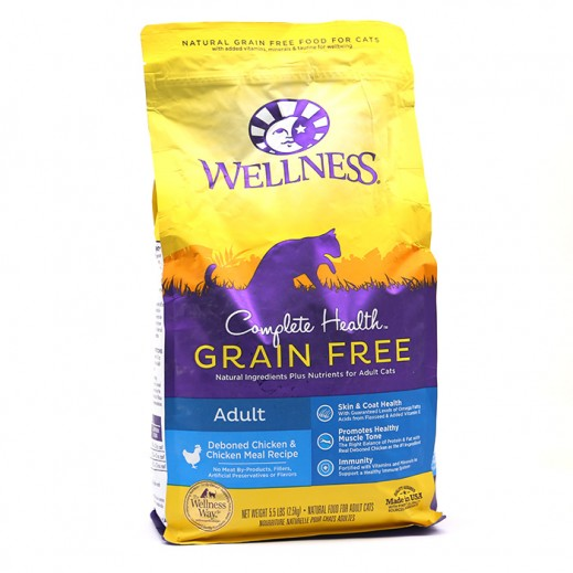 Wellness Grain Free Deboned Chicken & Chicken Meal Recipe Adult Cat Food 2.5 kg