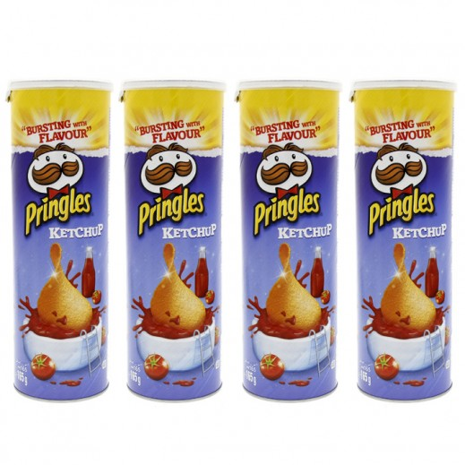Value Pack - Pringles Ketchup Potato Chips 4x165 g