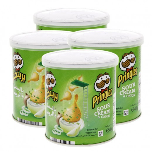 Pringles Sour Cream & Onion Potato Chips 4x40 g