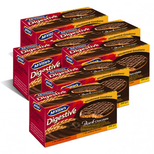 Value Pack-Mc Vitie's Digestive Dark Chocolate 200 g (6 pieces)