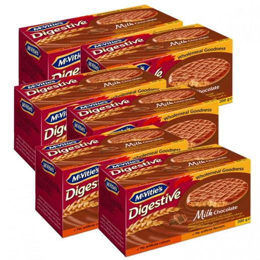 Value Pack - Mc Vities Digestive Milk Chocolate 200 g (6 pieces)