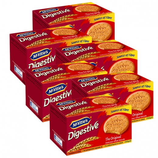 Value Pack - Mc Vities Digestive Biscuits 250 g (6 pieces)
