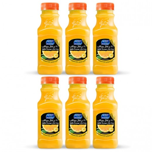 Almarai Orange With Pulp Juice 6 x 300 ml