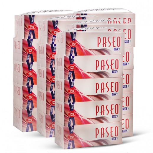Wholesale - Paseo White Facial Tissue 5x200s Pack (6 pieces)