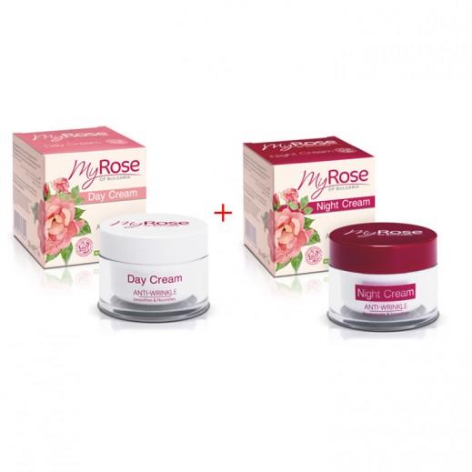 My Rose Anti Wrinkle Day Cream 50 ml + Anti Wrinkle Night Cream 50 ml