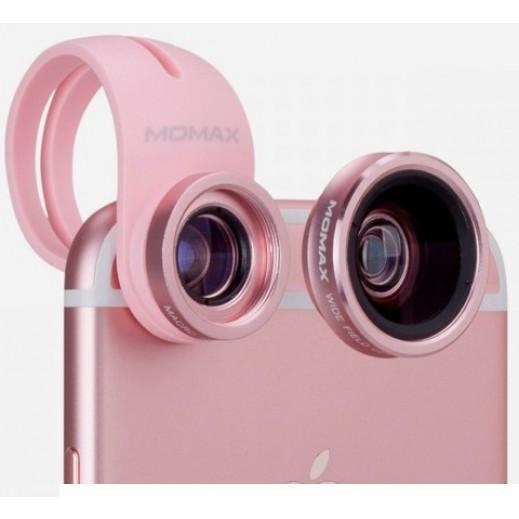 MoMax X-Lens: 2 in 1 Superior Lens Set - Rose Gold