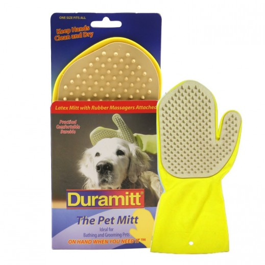 Duramitt Pet Mitt with Rubber Massagers