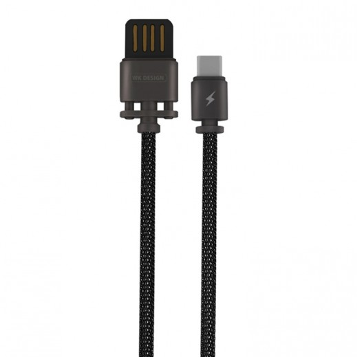 WK Design USB Type-C Metal Cable 1 M - Tarnish