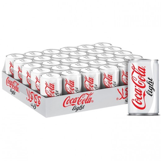 Coca Cola Light Can Carton 30 x 150 ml