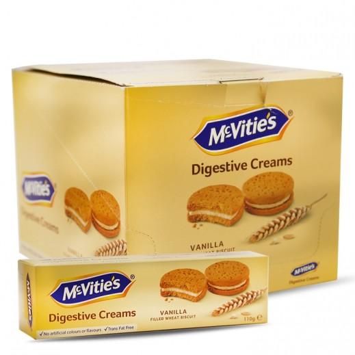 Mc Vities Digestive Vanilla Cream Biscuits 12 x 110 g