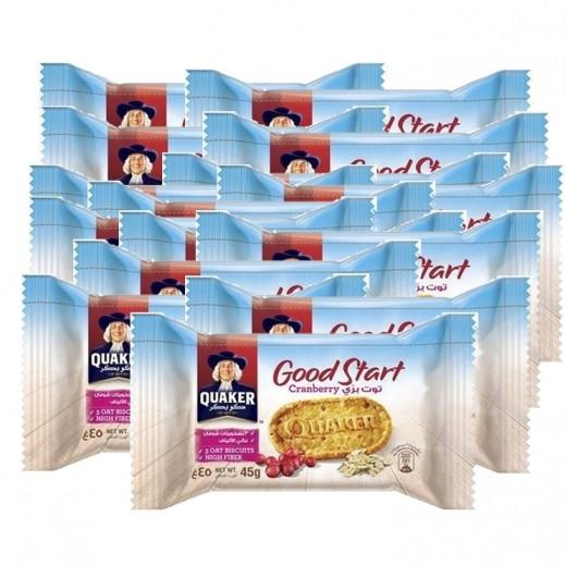Quaker Good Start Cranberry Biscuit 24 x 45 g