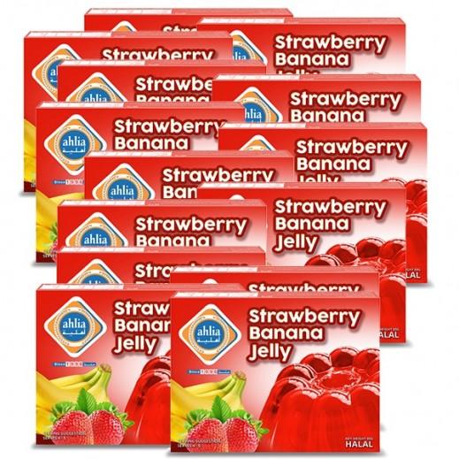 Ahlia Strawberry & Banana Jelly 80 g (10+2 Free)