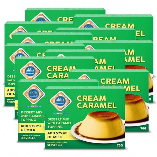 Ahlia Cream Caramel with Toping 70 g (10+2 Free)
